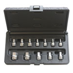 E-Z Red 12 Piece SAE Hex Bit Set