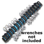 E-Z Red 15 Piece Magnetic Wrench Holder - Blue