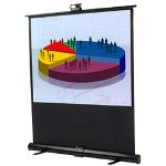 "Infocus Manual Pull-up Screen - Projection Screen - 60"" - 4:3 - Matte White - Black"