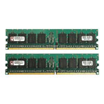 Kingston ValueRAM Memory - 2 GB ( 2 X 1 GB ) - DIMM 240-pin - DDR2