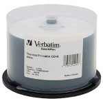 Verbatim DataLifePlus - 50 x CD-R - 700 MB (80min) 52X - White - Thermal Transfer Printable Surface - Spindle - Storage Media