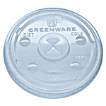 Fabri-Kal Greenware Cold Drink Lids, Fits 16-18, 24 oz Cups, X-Slot, Clear