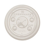 Fabri-Kal Greenware Cold Drink Lids, Fits Cold Drink Cups, Clear