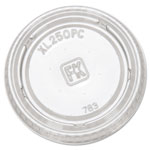 Fabri-Kal Clear Plastic Lid For 1.5 - 2.5-Oz Portion Cups