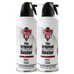 Falcon Safety Nonflammable Dust Off® Disposable Compressed Gas Duster, 10 oz. Can, 2/Pack