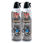 Falcon Safety Disposable Compressed Gas Duster, 17 oz. Can, 2/Pack