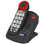 Fans-Tel Amplified Cordless Phone ,Talk-back Buttons, 2.4ghz
