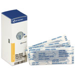 First Aid Only Metal Detectable Adhesive Bandages, Foam, Blue, 1 x 3, 25/Box