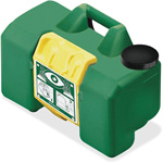 "First Aid Only Portable Eye Wash, 15 Min, HAWS, 9 Gal Capacity 12"" x 22"" x 10"", Green"