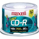 Maxell 50 x CD-R - 700 MB (80min) - Spindle - Storage Media