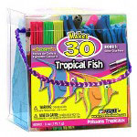Fibre-Craft Tropical Fish Foam Kit, Makes 30 Projects, Assorted