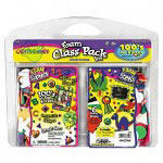 Fibre-Craft Foam Sheets/3 D Sticker Pack, 6 oz. Bucket, Assorted