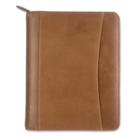 Franklin Covey Looseleaf Distressed Leather Binder Organizer, 5 1/2x8 1/2, Tan