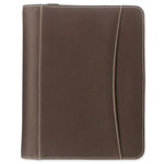 Franklin Covey Looseleaf Simulated Leather 7 Ring Organizer, 5 1/2 x 8 1/2, Brown