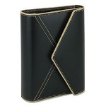 At-A-Glance Looseleaf Simulated Leather Envelope-Style Binder Organizer, 4-1/2x6-3/4, Black