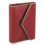 "Franklin Covey Red Simulated Leather Envelope-Style Organizer, 4 1/2"" x 6 3/4"""