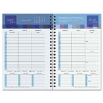 "Franklin Covey Bold and Bright Wirebound Wkly Planner Refill, 2 Pages per Week, 5 1/2"" x 8 1/2"""