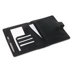 "Franklin Covey Black Simulated Leather Wirebound Planner Cover, 5 1/2"" x 8 1/2"""