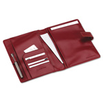Franklin Covey Simulated Leather Wirebound Planning System Cover, 6-3/4 x 9-1/2, Red