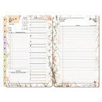 Franklin Covey Blooms Dated Daily Planner Refill, January-December, 5-1/2 x 8-1/2