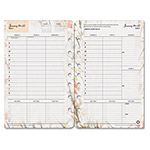 Franklin Covey Blooms Dated Weekly/Monthly Planner Refill, Jan.-Dec., 5-1/2 x 8-1/2, 2016