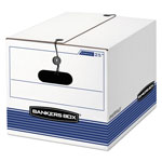Fellowes Storage Box, Legal/Letter, Tie Closure, White/Blue