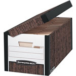 Fellowes SYSTEMATIC® Storage File, Letter Size, 12 1/8x10x24, Woodgrain, 12/ct