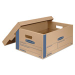 Fellowes SmoothMove Prime Moving Boxes w/Lift Off Lid, 24l x 15w x 10h, Kraft, 8/Carton