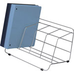 Fellowes Wire Catalog Rack, 4 Compartment, Silver Finish
