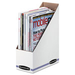 Fellowes Bankers Box Stor/File Corrugated Magazine File, White, 3-7/8x9-1/4x11-3/4,12/Carton