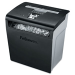 "Fellowes Shredder, Cross-Cut, 8 Sheet Cap, 14-3/16"" x 14-3/16"" x 10"", BK/GY"