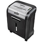 Fellowes Powershred MS-450CI Micro-Cut Shredder, Black/Silver