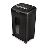 Fellowes Powershred® 3245001 MS 450CS Micro Shred Medium Duty Personal Shredder, Black