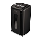 Fellowes Powershred® 3246001 MS 460Cs Heavy Duty Micro Shred Personal Shredder, Black/Silver