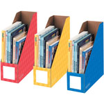 "Fellowes Magazine File Holders, Letter, 4"" x 11"" x 12-1/4"", 3/PK, Assorted"