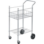"Fellowes Mail Cart, Holds 75 Ltr/Lgl Fldrs, 16-1/4"" x 26-1/4"" x 40"" CE"
