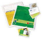 "Fellowes 2 9/16"" x 3 3/4"" Self Adhesive Laminating Pouches, 5/Pack"