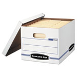Fellowes Stor/File Storage Box, Letter/Legal, Lift-Off Lid, White, 6/Pack