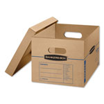 Fellowes SmoothMove Classic Moving Boxes, 15l x 12w x 10h, Kraft, 15/Carton