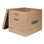 Fellowes SmoothMove Classic Moving Boxes, 21l x 17w x 17h, Kraft, 5/Carton