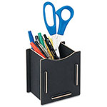 Fellowes Earth Series Pencil Cup, 3 1/4 x 4 x 4 1/4, Black