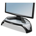 Fellowes Smart Suites Corner Monitor Riser, 18 1/2 x 12 1/2 x 5 1/8, Black/Clear Frost