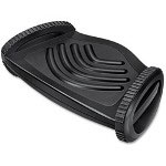 Fellowes Foot Rocker w/Microban, Plastic, 19 5/8 x 5 3/16 x 11 15/16, Black