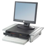 Fellowes Concept C2 Monitor Stand, 80 Lb. Capacity, Height Adjustable, Black/Silver