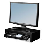 Fellowes Adjustable Monitor Riser with Storage Tray, 16 x 9 3/8 x 6, Black Pearl