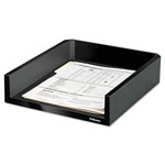 "Fellowes Black Letter Tray, Holds Letter/A4 Paper, 11 1/8"" x 13"" x 2 1/2"""