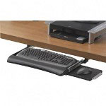 Fellowes Keyboard Drawer with Retractable Mouse Station, Black/Silver