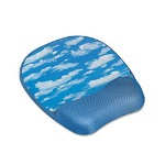 Fellowes Memory Foam Wrist Rest/Mouse Pad, Clouds