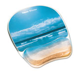 "Fellowes Gel Mouse Pad w/Wrist Rest, Photo, 9 1/4"" x 7 1/3"", Sandy Beach"
