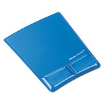 Fellowes Gel Wrist Support With Attached Mouse Pad, Blue